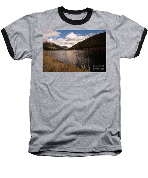 Earthquake Lake Baseball T-Shirt by Cindy Murphy - NightVisions