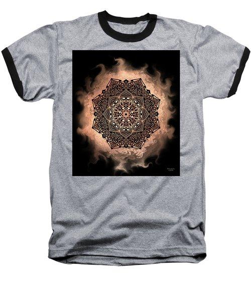 Earthy Mandala Baseball T-Shirt