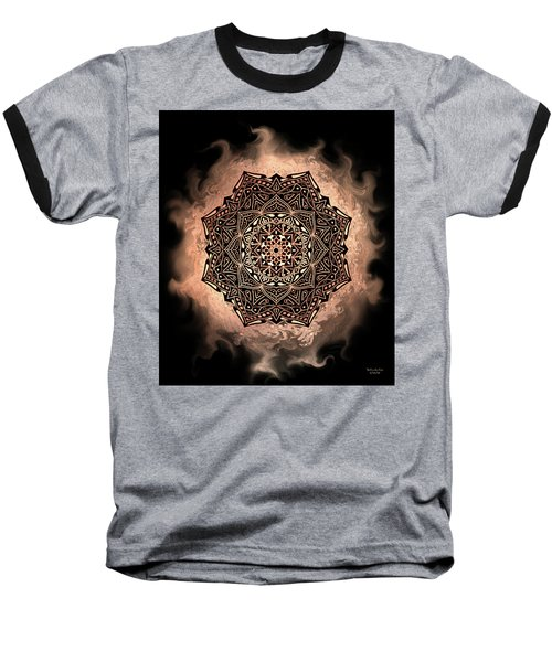 Earthy Mandala Baseball T-Shirt