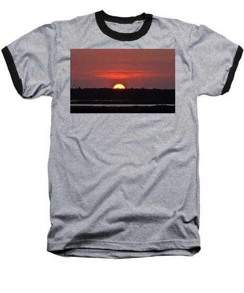 Baseball T-Shirt featuring the photograph Ease Into Night... by John Glass