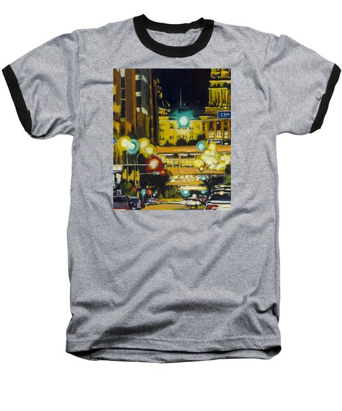 East 13th And Locust St Des Moines Baseball T-Shirt
