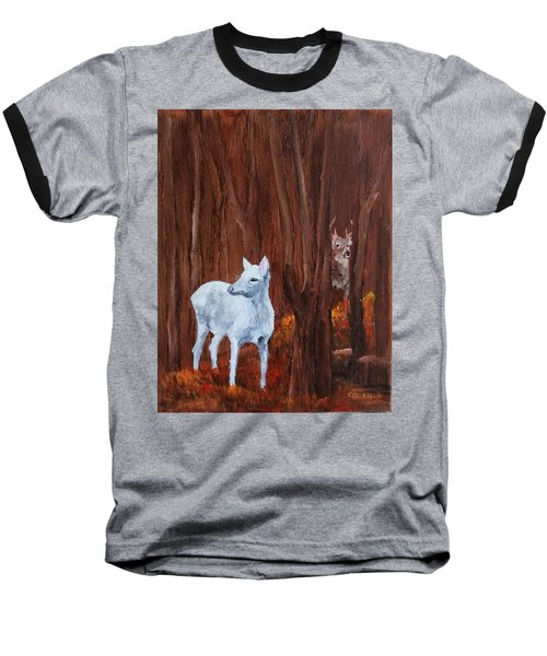 East Aurora Albino Deer,  Baseball T-Shirt