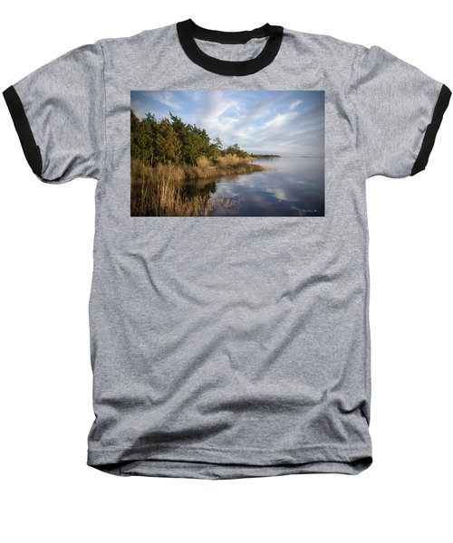 East Bank Looking South At Sunset Baseball T-Shirt