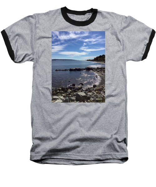 East End Beach Portland, Maine, October 2015 Baseball T-Shirt by Patricia E Sundik