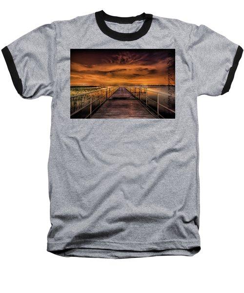 East Lake Pier Topaz Baseball T-Shirt