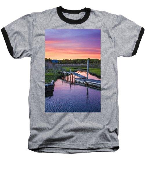 East Moriches Sunset Baseball T-Shirt