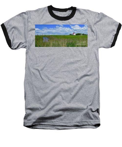 East Point Lighthouse Across The Marsh  Baseball T-Shirt