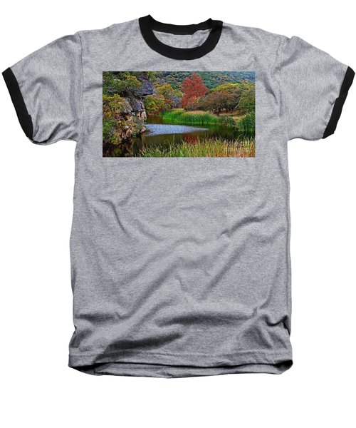 East Trail Pond At Lost Maples Baseball T-Shirt