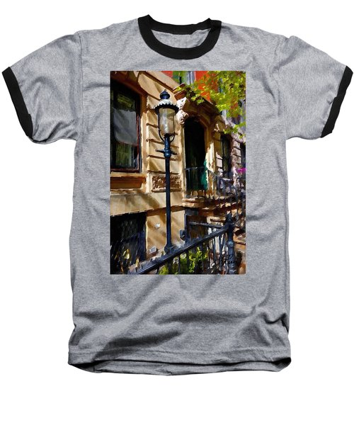 East Village New York Townhouse Baseball T-Shirt