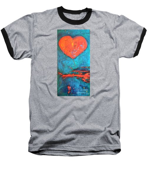 Baseball T-Shirt featuring the painting East Winds by Diana Bursztein