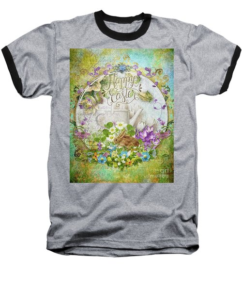 Baseball T-Shirt featuring the mixed media Easter Breakfast by Mo T