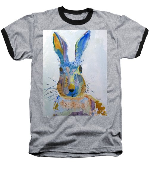 Easter Bunny Baseball T-Shirt by Sandy McIntire