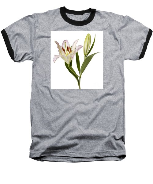 Easter Lilly Baseball T-Shirt by Tony Cordoza