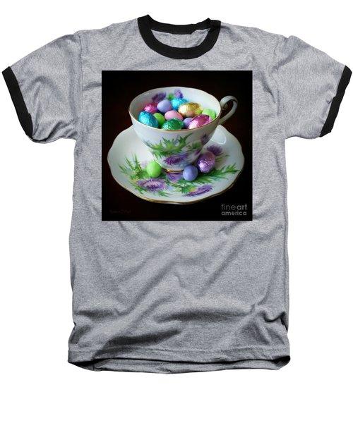 Easter Teacup Baseball T-Shirt by Robert ONeil