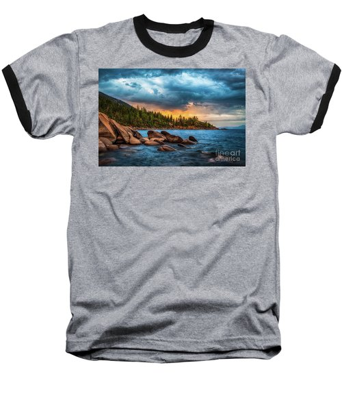 Eastern Glow At Sunset Baseball T-Shirt