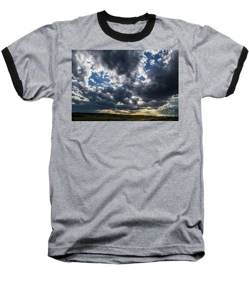 Eastern Montana Sky Baseball T-Shirt by Shevin Childers