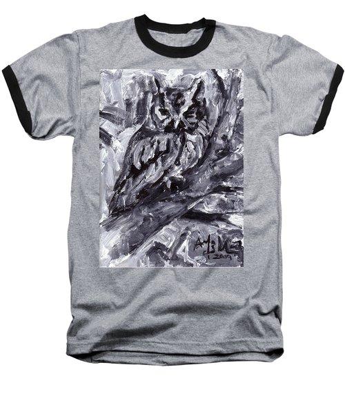 Eastern Screech-owl Baseball T-Shirt