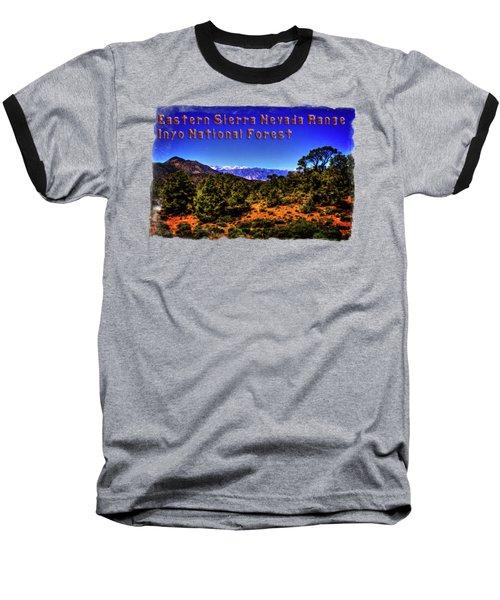 Eastern Sierras From The White Mountains Baseball T-Shirt