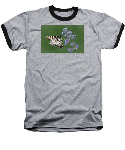 Eastern Tiger Swallowtail Profile Baseball T-Shirt by Patti Deters