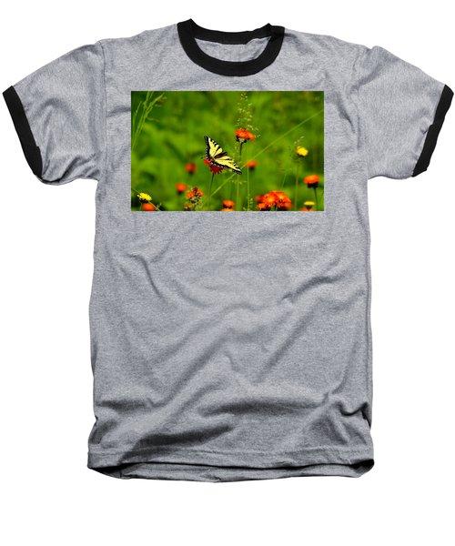 Eastern Tiger Swallowtail  Baseball T-Shirt by Debbie Oppermann