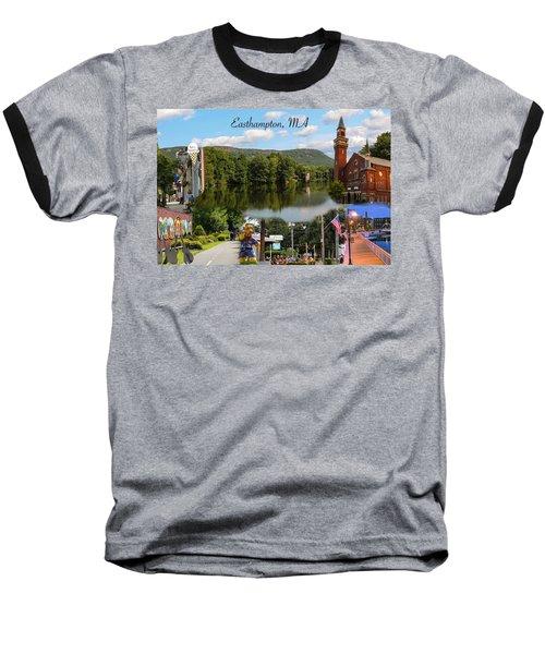 Easthampton Ma Collage Baseball T-Shirt