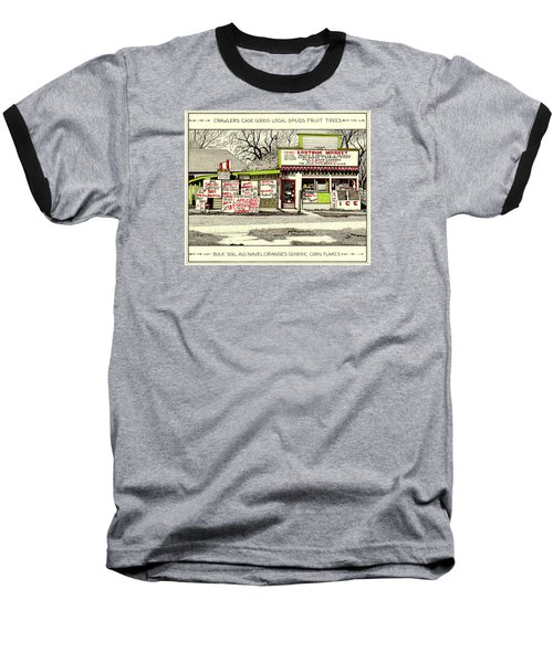 Baseball T-Shirt featuring the painting Eastside Market by Chholing Taha