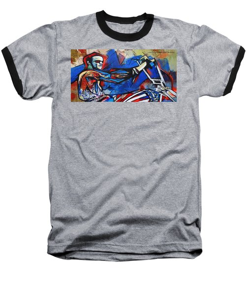 Easy Rider Captain America Baseball T-Shirt by Eric Dee