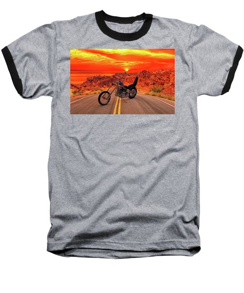 Baseball T-Shirt featuring the photograph Easy Rider Chopper by Louis Ferreira