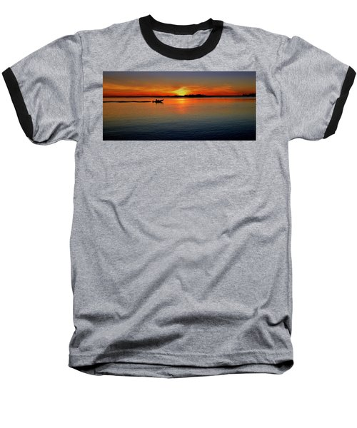 Easy Sunday Sunset Baseball T-Shirt by Allen Beilschmidt