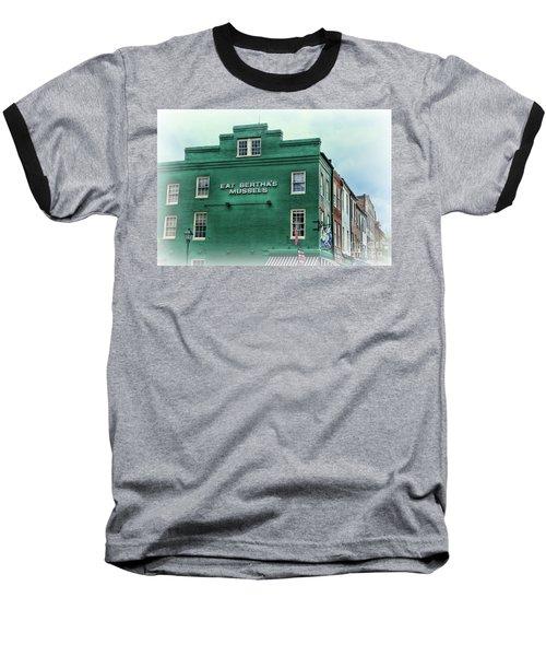 Eat Berthas Mussels  Baseball T-Shirt by Paul Ward