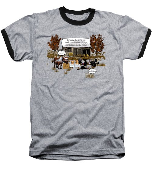 Eat More Turkey Baseball T-Shirt