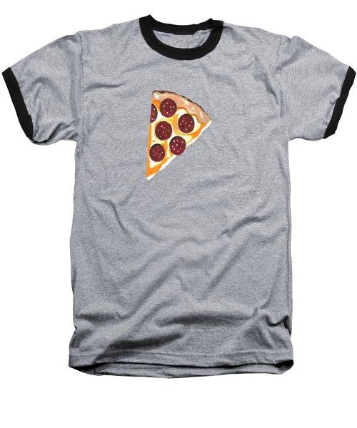 Eat Pizza Baseball T-Shirt by Kathleen Sartoris