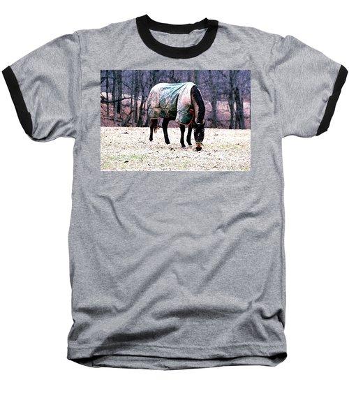 Eatin' Snowy Grass Baseball T-Shirt