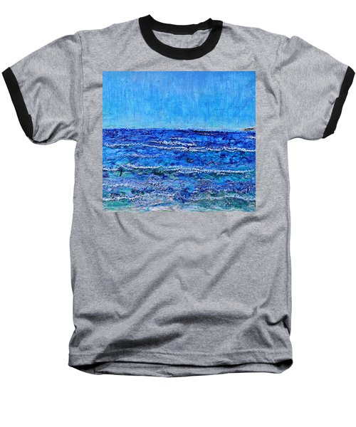 Ebbing Tide Baseball T-Shirt by Regina Valluzzi
