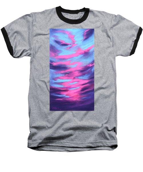 Baseball T-Shirt featuring the painting Eccentric Sky by Anastasiya Malakhova