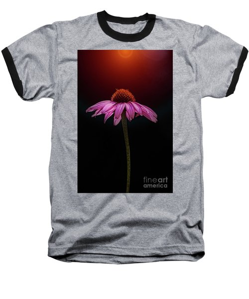Echinacea And Sun Baseball T-Shirt