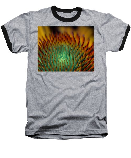 Echinacea Macro Baseball T-Shirt
