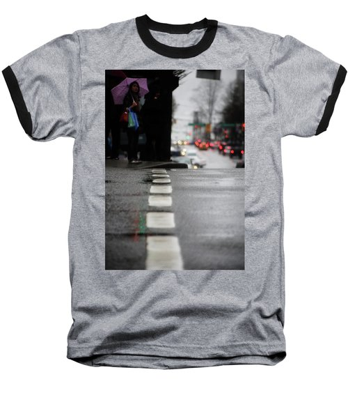 Echoes In The Rain Drops  Baseball T-Shirt by Empty Wall