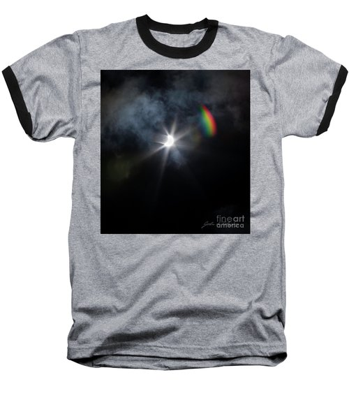 Solar Eclipse 2017 And Rainbow Baseball T-Shirt