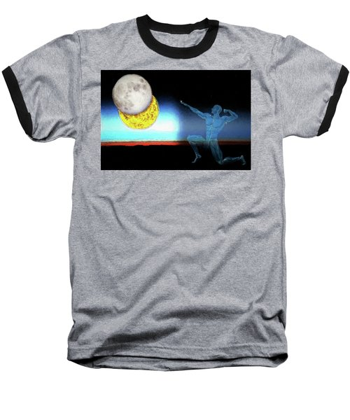 Baseball T-Shirt featuring the digital art Eclipse 2017 by John Haldane