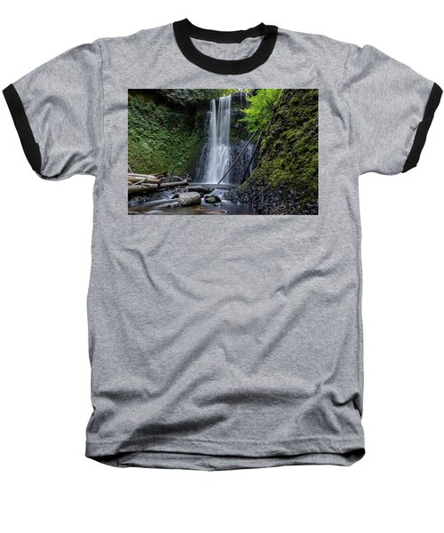 Baseball T-Shirt featuring the photograph Ecola Falls No.1 by Margaret Pitcher