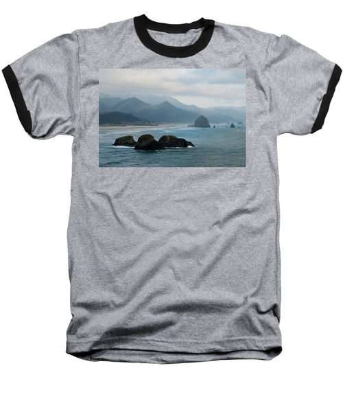 Ecola State Park View Of Haystack Rock And 3 Arch Rocks Baseball T-Shirt
