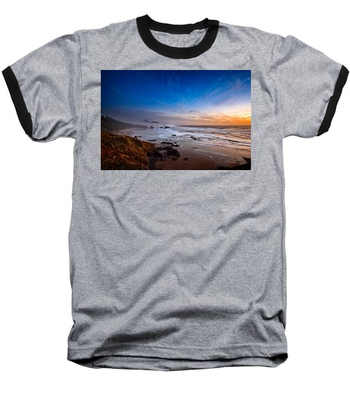 Ecola State Park At Sunset Baseball T-Shirt