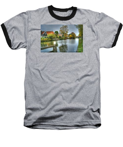 Edam Waterway In Holland Baseball T-Shirt