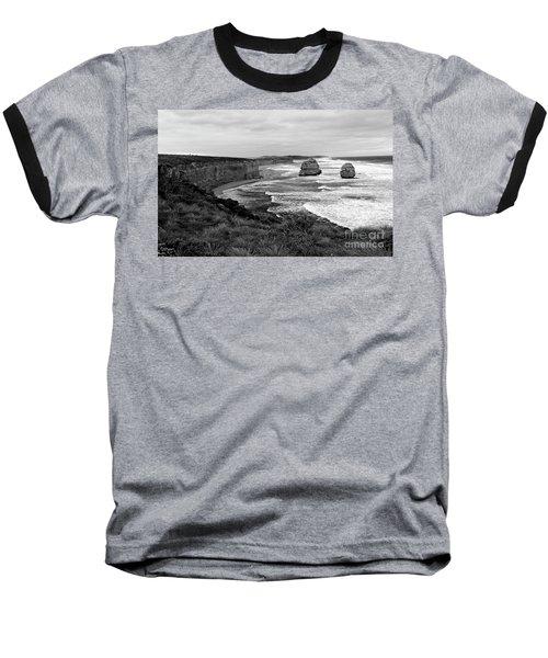 Edge Of A Continent Bw Baseball T-Shirt