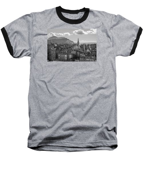 Edinburgh - Arthur's Seat Baseball T-Shirt by Amy Fearn