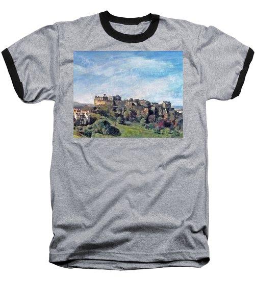 Edinburgh Castle Bright Baseball T-Shirt