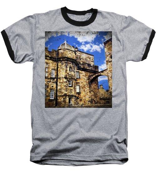 Edinburgh Castle Baseball T-Shirt by Judi Saunders