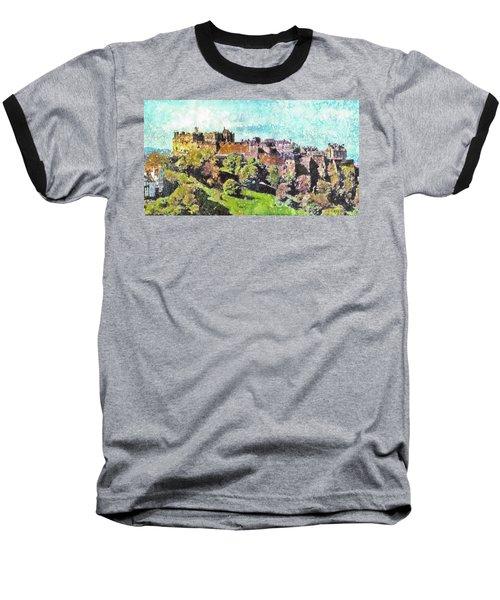 Edinburgh Castle Skyline No 2 Baseball T-Shirt