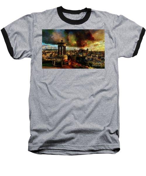 Edinburgh Scotland 01 Baseball T-Shirt by Gull G